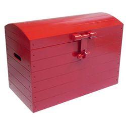 Skrzynia drewniana czerwona