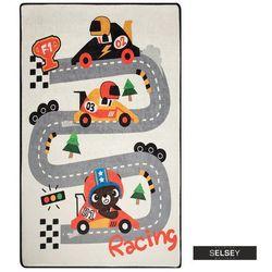 dywan do pokoju dziecięcego dinkley wyścigi 100x160 cm marki Selsey
