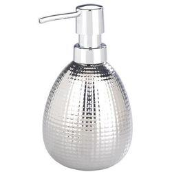 Wenko Srebrny dozownik do mydła, do płynów, z pompką, pojemnik na mydło, ceramiczny, chrom, 320 ml pojemności, marka (4008838236697)