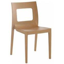 Krzesło ogrodowe do kawiarni Lucca kolor tekowy