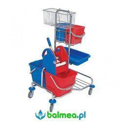 Wózek serwisowy roll mop ser-0006 czterowiaderkowy z prasą i kuwetą marki Splast
