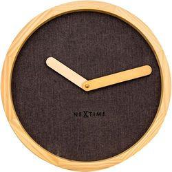 Zegar ścienny Nextime Calm 30 cm, brązowy, kolor brązowy