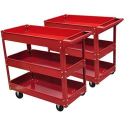 Vidaxl wózek do warsztatu z trzema półkami.