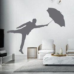 Szablon do malowania mężczyzna z parasolem 2399