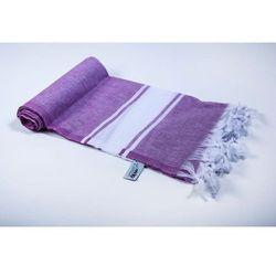 Import Sauna łażnia - hammam ręcznik 100% bawełna sar2 fioletowo-biały