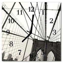 Zegar szklany kwadratowy most brookliński marki Tulup.pl