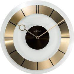 Zegar ścienny Retro Nextime 31 cm, złoty / czarny, kolor żółty