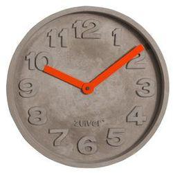 Zuiver Zegar betonowy z pomarańczowymi wskazówkami 8500027 (8718548023864)