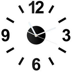 Zegar z pleksi na ścianę z białymi wskazówkami