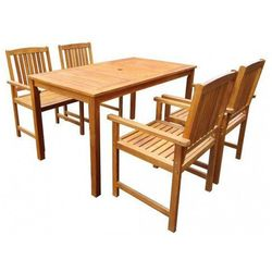 Producent: elior Drewniany zestaw mebli ogrodowych kint - brązowy