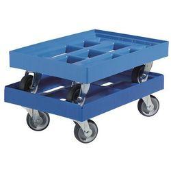 Wózek transportowy, dł. x szer. 610x410 mm, z HDPE, niebieskie gencjanowe. Niedu