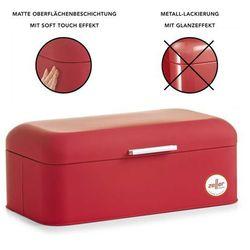 Zeller Metalowy chlebak rubber, pojemnik na pieczywo, 43x23x17 cm,