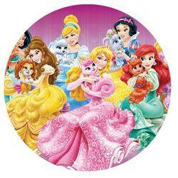 Dekoracyjny opłatek tortowy Princess - Księżniczki - 20 cm