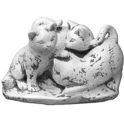 Figura ogrodowa betonowa trzy kocięta 17cm