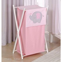 MAMO-TATO Kosz na bieliznę Słonik różowy z kategorii kosze na pranie