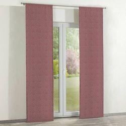 Dekoria zasłony panelowe 2 szt., białe serduszka na bordowym tle, 60 x 260 cm, wyprzedaż do -30%