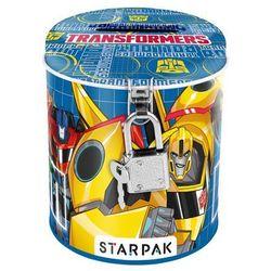 Starpak, Transformers, skarbonka metalowa, okrągła - szczegóły w Smyk