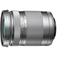 Olympus  m. 40-150 mm f4-5.6 r uv srebrny obiektyw z filtrem mocowanie micro 4/3