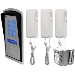 Radbit Zestaw 3-rodzinny panel domofonowy wielorodzinny z szyfratorem brc10 mod