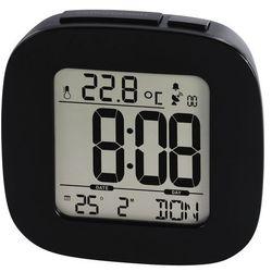 Hama zegar dcf rc45 z budzikiem czarny