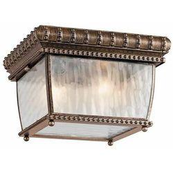 Kichler Zewnętrzna lampa sufitowa kl/venetian/f elstead ogrodowa oprawa szklana outdoor vintage ip44 brąz przezroczysta
