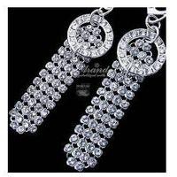 Arande Nowe swarovski kolczyki crystal pave srebro