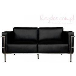 Sofa 2-osobowa Soft GC czarna skóra - sprawdź w wybranym sklepie