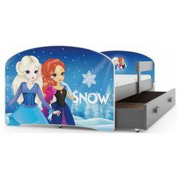 Pojedyncze łóżko dla dziewczynki kraina lodu 2 rozmiary - delmo marki Elior