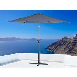 Parasol ogrodowy - antracytowy - ø 267 cm - metalowy - varese wyprodukowany przez Beliani