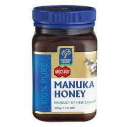 Miód manuka 400 mgo 500g wyprodukowany przez Manuka health, nowa zelandia