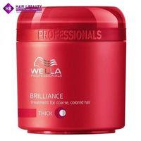 Wella  brilliance maska do grubych włosów farbowanych (thick) - 150 ml