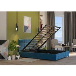 Łóżko 160x200 z materacem i pojemnikiem - arezzo welur lazurowe marki Zona meble