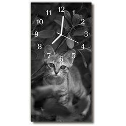 Tulup.pl Zegar szklany pionowy zwierzęta kot zwierzęta szary