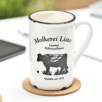 Porcelanowy kubek retro - milk cow - milk cow marki Gadget master