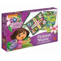 Gra 2w1 Chińczyk + Wyścig Dora poznaje świat