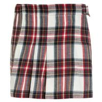 American Outfitters CHECK PLEAT Spódnica plisowana red, 217-1469