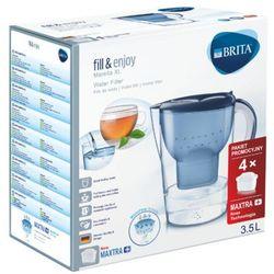 3,5l marella dzbanek filtrujący xl niebieski + 4 wkłady maxtra+ marki Brita
