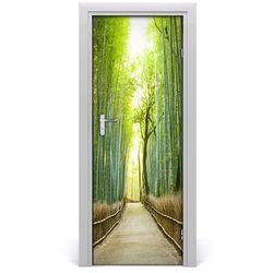 Naklejka fototapeta na drzwi Las bambusowy