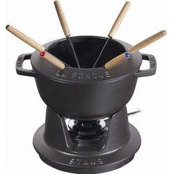 Staub garnek do fondue 18cm czarny