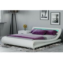 Łóżko tapicerowane do sypialni 180x200 114 led białe marki Meblemwm