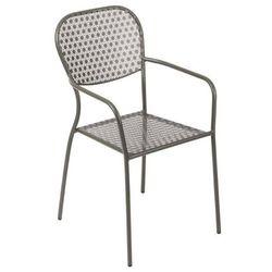 Krzesło ogrodowe szare | 55x58x(h)95cm marki Bolero