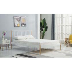LEMI 120 cm łóżko metalowe biały / naturalny (2p=1szt), H_2010001170778