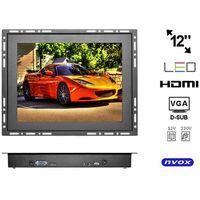 "Nvox  op1200vh monitor open frame lcd 12"" cali led vga hdmi 12v 230v"