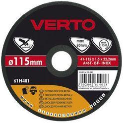 Tarcza do cięcia VERTO 61H402 125 x 1.5 x 22.2 mm do metalu - produkt z kategorii- Tarcze do cięcia