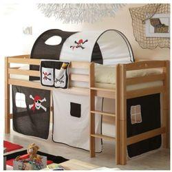 Ticaa łóżko piętrowe timmy r buk, naturalny - pirat czarny/biały marki Ticaa kindermöbel