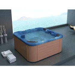 Zewnętrzne spa - akryl i drewno - kolor niebieski sanremo marki Beliani