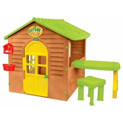 Mochtoys Domek ogrodowy dla dzieci ze stolikiem i krzesełkiem (5907442122404)