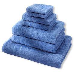 """Komplet ręczników """"Deluxe"""" (7 części) bonprix morski"""