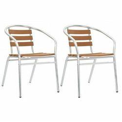 Zestaw metalowych krzeseł ogrodowych Folind 2X - srebrny