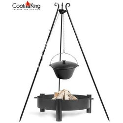 Kociołek żeliwny na trójnogu 16l + palenisko haiti 70cm marki Cook king